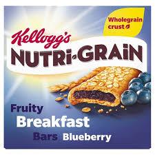 Kelloggs NutriGrain Blueberry 6 Pack 222g