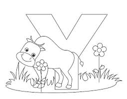 Bold Idea Letter Y Coloring Pages Animal Alphabet Page