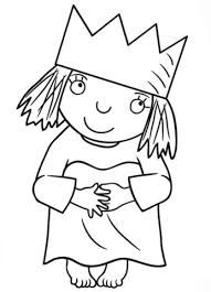 Click To See Printable Version Of Little Princess Coloring Page
