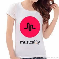 brand logo musical ly women t shirt 2017 new arrival short print o