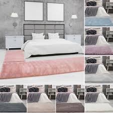 details zu bettumrandung teppich shaggy hochflor pastell einfarbig schlafzimmer
