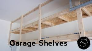how to build garage shelves the best way youtube