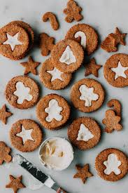 Gingerbread Linzer Cookies With Fresh Ginger Cream Recipe In 2018