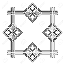 100 Art Deco Shape Vintage Geometric Retro Frame Vector Illustration