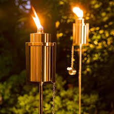 Citronella Oil Lamps Torches by Tiki Torches With A Contemporary Twist Keep Pesky Bugs Away With