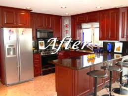 Refinishing Wood Cabinets Discontinued Kitchen Cherry Mills Pride