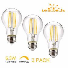 shop 3pcs filament bulb dimmable led bulb bright e26
