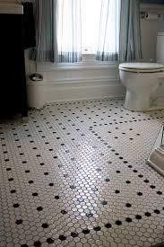 with hexagon floor tile new home design