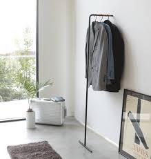 tower leaning slim coat hanger compact yamazaki home