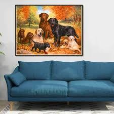 stickpackungen hund familie 5d painting diamant