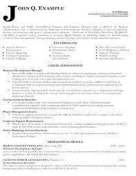 Business Development Sample Resume Cover Letter