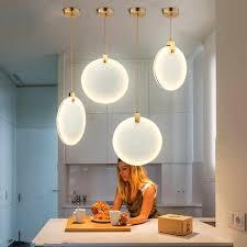 marmor anhänger licht küche insel esszimmer led lustre