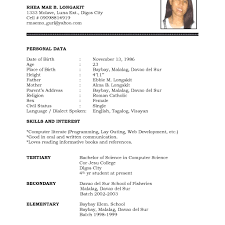 Cv Template Word Pdf High School Student Resume Format Doc For Examples Students Sample