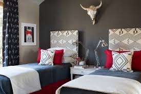Nice Decoration Red And Grey Bedroom Polished Passion 19 Dashing Bedrooms In Gray Innovative Ideas