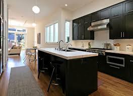 Grey Floor Tile White Marble Hanging Lamp Light Kitchen With Tiles Countertop Black Backsplash Cabinet Metal