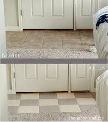 painting a tile floor tips grumbles diy
