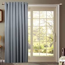 Door Curtain Panels Target by Interior Cream Grommet Pleated Curtain Haning On Black Rods And