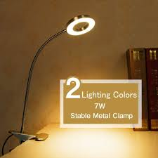 Headboard Lights For Reading by Clip On Lamp Hqoon Desktop Lamp With Stable Clamp Book Light For