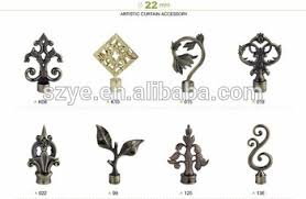 Hardware Accessories Rustic Decorative Curtain Plole Rods Artistic Finials