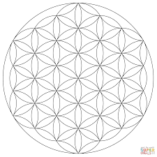 Click The Flower Of Life Mandala Coloring Pages To View Printable Version Or Color It Online Compatible With IPad And Android Tablets