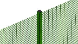 The Drawing Of Anti Climb Fence Installation Including Zenith Mesh Fencing Heras Uk