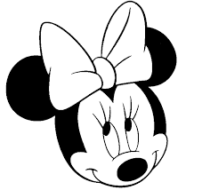 Minnie Mouse Bow Coloring Pages Face Free Download Clip Art Online
