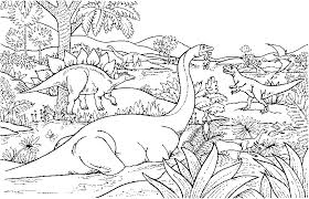 Realistic Dinosaur Coloring Pages Printable