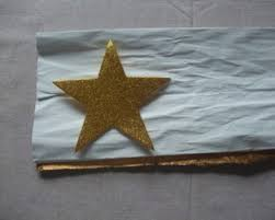 Fold Over Your Gold Or Silver Crepe Paper And Trace Out Stars