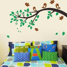Cartoon Birds Tree Animal Forest Wall Stickers Decals For Nursery Home Decor 3D