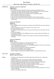Download Massage Therapist Resume Sample As Image File