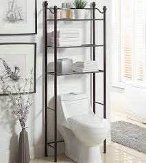 White Bathroom Wall Cabinets With Glass Doors by Bathroom Cabinets Over Toilet Shelf And White Cabinet With Glass