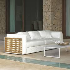 canapé teck jardin canapé de jardin by talenti avec structure en aluminium et teck