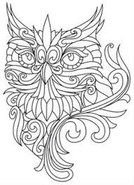 Baroque Owl Coloring Pages