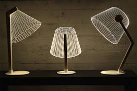 Laser Cut Lamp Kit by Redesigned 2d Lamps Continue To Mesmerize With 3d Optical