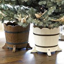 Barrel Planter Christmas Tree Stand
