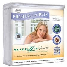 amazon com allerzip smooth anti allergy bed bug proof mattress