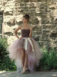 Adult Tutu High Low Skirt Wedding Bridal Prom