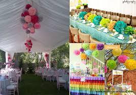 decoration pour anniversaire pompon pour deco de mariage brilliant decoration de salle des