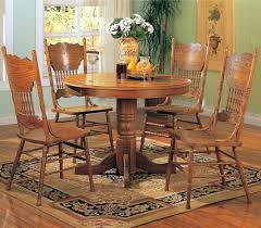 100 Shaker Round Oak Table And Chairs 11 Solid Dining Set On Dining Room
