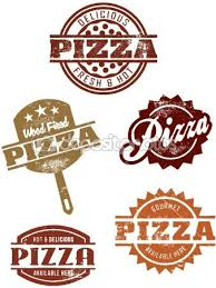 Illustration Of Vintage Style Pizza Stamps Vector Art Clipart And Stock Vectors