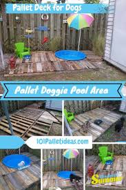 DIY Pallet Doggie Pool Area