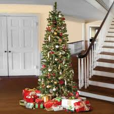Krinner Christmas Tree Genie Xxl Canada by 7 5 Pre Lit Slim Christmas Tree Rainforest Islands Ferry