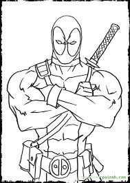 Free Colouring Pages Deadpool Coloring In Design Kids