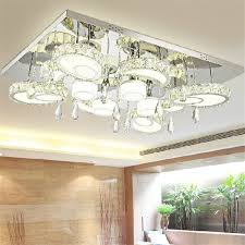 modern led flush mount rectangular ceiling lights fixture