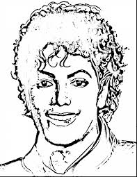 Beautiful Michael Jackson Drawingse Colouring Pages Page With Coloring And