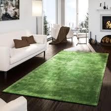 teppich handgetuftet modern qualität edel viskose garn schimmer glanz grün größe 160x230 cm