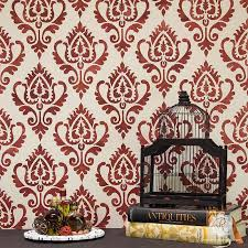decorative stencils for walls ethnic ikat damask stencil pattern for walls furniture