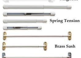 do different types of curtain rods in one apartment work