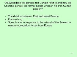 Iron Curtain Speech Apush by Who Coined The Term Iron Curtain Quizlet 100 Images Who