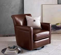 Irving Leather Swivel Glider